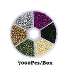 7000PCS/Box DIY Crystal Glass Necklace Bracelet Beads Set for Jewelry Making 2mm