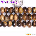 Yellow Tiger Eye Rondelle Natural Stone Spacer Loose Jewelry Beads Making 15""