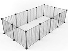 Tespo Pet Playpen, Small Animal Cage Indoor Portable Metal Wire yd Fence for Sma