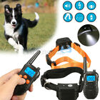 Dog Collar Shock Electric Waterproof Rechargeable Petrainer LCD Remote  z