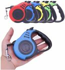 2 Types Dog Leash Retractable Nylon Lead Extending Puppy Walking Running Leads