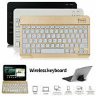 """10"""" Wireless Bluetooth Backlit Keyboard Fit For Ipad Android Windows Tablet Pc"""