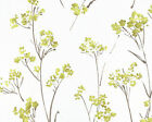 "Linen Cotton Blended Fabric for Curtain, Drapery Retro Vintage Floral White 54""w"