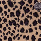 "POLYCOTTON SEXY LEOPARD CHEETAH ANIMNAL SKIN CLOTH DRESS FABRIC BEIGE BLACK 44""W"