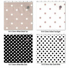 COTTON UPHOLSTERY DOT FABRIC BLACK WHITE RED BLUE PINK