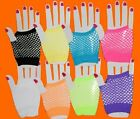 Neon Short Fishnet Gloves Hen Club Fish Net tu rave