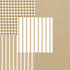 YARN DYED CHAMBRAY COTTON 100% CLOTH MATCHING GINGHAM CHECK STRIPE SOLID BEIGE