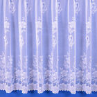CARLA JACQUARD NET CURTAIN IN WHITE. SOLD BY THE METRE