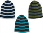 6-13 Years Boys Girls Hat Soft Warm Stripe Beanie Blue/Grey/Black/Green
