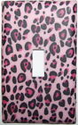 Pink Leopard Light Switch Plates Electrical Outlets