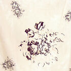 "WASHED NATURAL MUSLIN FABRIC ANTIQUE FLORAL PRINT 55""W"