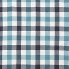 CHAMBRAY YARN DYED COTTON FABRIC CURTAIN BEDDING CHECK FROSTY MELANGE MINT 44'W