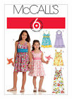 McCall's 5838 Out of Print Girls' Dress w/Bodice Two Lengths Sewing Pattern