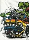 Rat Fink Ed Roth Car Eater 1956 Ford white t shirt tee sizes S-XXL