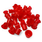 100 x *Red* TATTOO Ink Cups Caps POTS  All Sizes Within