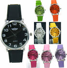 Prince London ladies coloured leather strap watch