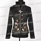 Butterfly Flowers Embroidered Top Coat Jacket Blazer