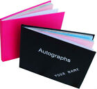 PERSONALISED blank AUTOGRAPH BOOK great for children SIGNATURES parties CELEBS
