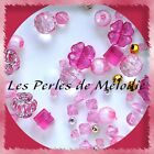 "Lot Mix de + 100 à + 500 PERLES FANTAISIE tons ""ROSE"""
