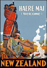 T42 Vintage New Zealand Welcome Travel Poster A1 A2 A3