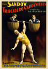 TH3 Vintage Strong Man Circus Carnival Poster A1 A2 A3