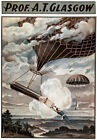 TH66 Vintage Balloonist Theatre Poster Print A1 A2 A3