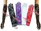 Sexy Lace Floral  Long Opera Evening Gloves g003