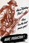 2W28 Vintage WWII Give Him The Best War Poduction Poster WW2 A1 A2 A3