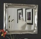 NEW Antique Silver Shabby Chic Framed Ornate Overmantle Mirror CHOOSE YOUR SIZE