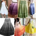 BOHO Cotton&Lace 2 in 1 Convertible Tube Top Beach Dress Maxi Skirt dr009