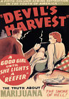 "AD82 1950's Devils Harvest Marijuana Anti Drugs Poster A3 17""x12"""