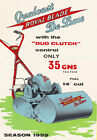 "AD97 Vintage 1950's Lawn Mower Advertisment Poster Print A3 17""x12"""