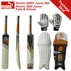 *NEW* PUMA ATOMIC 4000/3000 CRICKET BAT, PADS AND GLOVES PACKAGE, RRP £160
