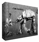 Banksy AT AT Im your Father Star Wars Canvas Art - Choose your size - Free P&P