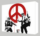 Banksy Peace Canvas Art - Choose your size - Ready to Hang - Free P&P
