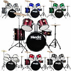 Mendini Complete 5 Pcs Adult Senior Drum Set Black Blue Green Red Silver White