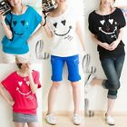 Cotton Smile Batwing Sleeve Top T-shirt Multiple colour SZ S-M/AU6-10 T018