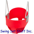 HIGHBACK FULL BUCKET SWING SEAT SET SLIDE PLAYGROUND SWINGSET TODDLER PARK CHAIN