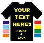 YOUR CUSTOM PERSONALISED DESIGN CREATED ON A T-SHIRT - LADIES
