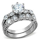 1.95ct Brilliant cut Women's Wedding/Engagement RINGS SET SIZE 5,6,7,8,9,10