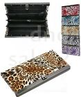 BRAND NEW Leopard Print Accordion Flat Wallet Clutch - ASSORTED COLORS