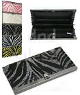 **BRAND NEW** Zebra Print Accordion Flat Wallet Clutch - **ASSORTED COLORS**