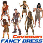 CAVEMAN Stoneage Flintstones Jungle Cave Man Fancy Dress Costume