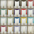 PLAIN VOILE NET CURTAIN SCARVES - FREE P&P - MULTIPLE COLOURS - 3M & 5M LENGTHS