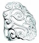 Sterling Silver 25mm Diamond Shape Open Filigree Ring (sizes K - V available)