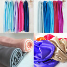 SHINY SILKY STRETCH BRIDAL SATIN FABRIC WEDDING TABLETOP CURTAIN DRAPERY 4 YARDS