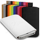 Premium PU Leather Pouch Case Cover Skin Sleeve Mobile Phone Case - 12 Colours