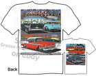 1955 1956 1957 Chevy T shirt 55 56 57 Chevrolet BelAir Tee Classic Car Clothing