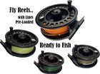 GRAPHITE FLY REEL FULLY LOADED WITH QUALITY FLY LINE ***SALE***