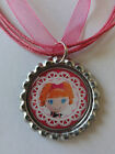 Lalaloopsy bottle cap necklace U CHOOSE mittens, bea, blossom, jewels tippy etc